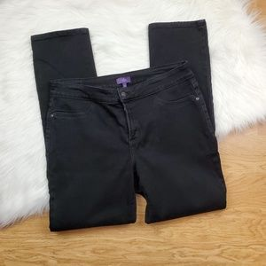 NYDJ Black denim leggings (146)